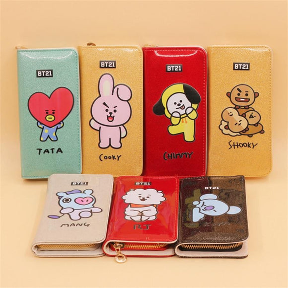 BT21 Character Leather Wallet