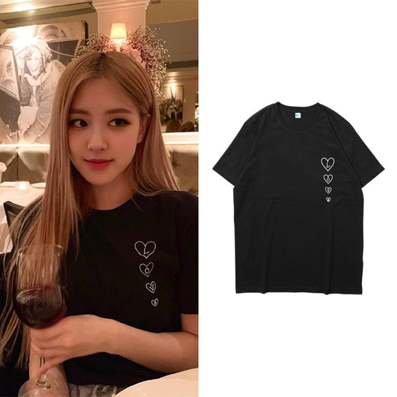 BLACKPINK ROSE Love Heart Classic T-Shirt (3 Colors)