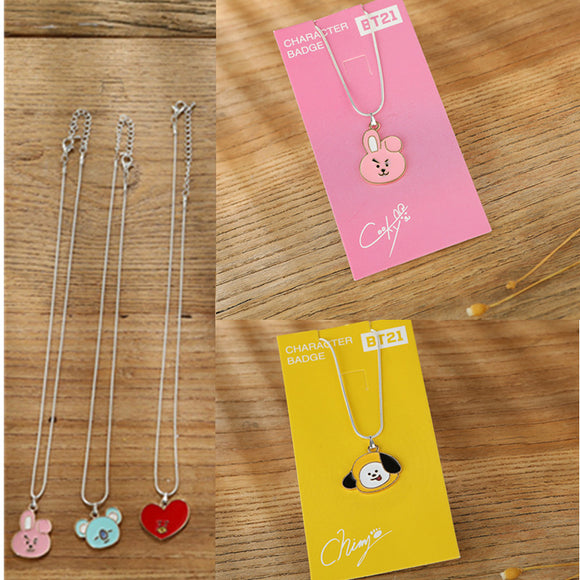 BT21 Titanium Steel Necklace