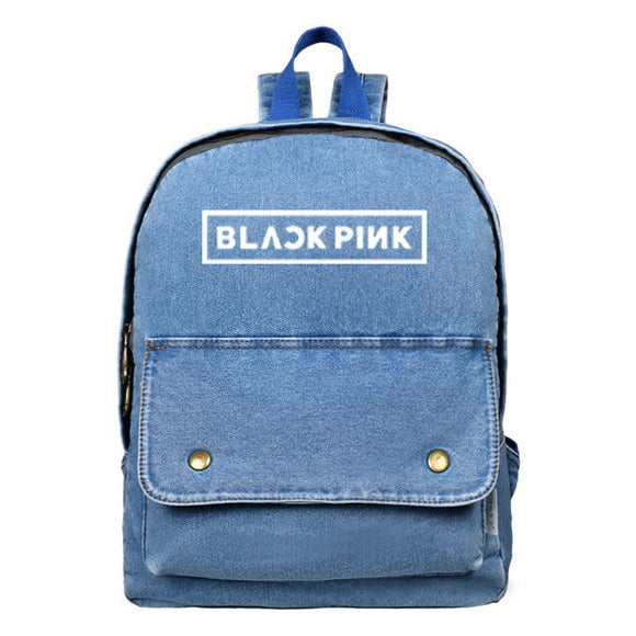 BLACKPINK Denim Canvas Backpack