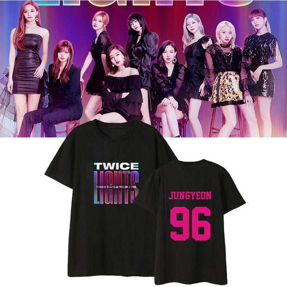 TWICE LIGHTS TWICE WORLD TOUR 2019 Classic T-Shirt (2 Colors)