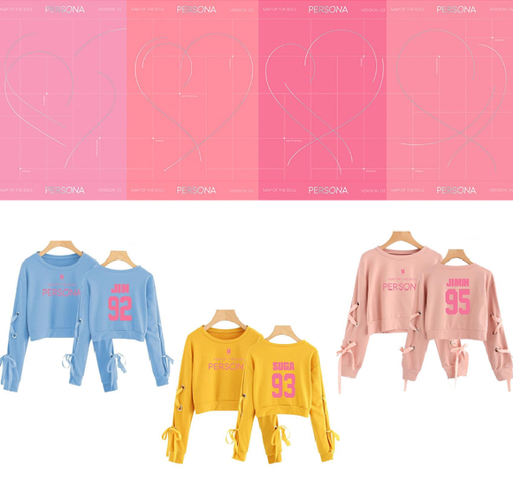 BTS MAP OF THE SOUL: PERSONA Crop Pullover (3 Colors)