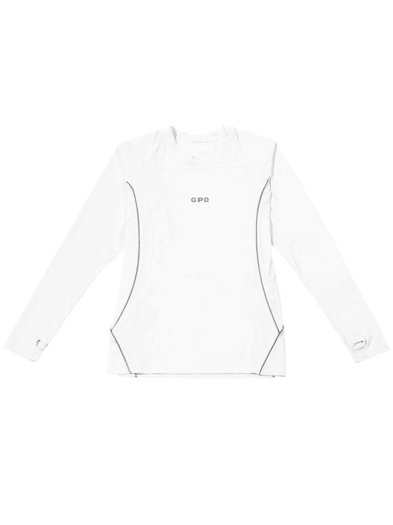 GPD 0010B MENS REFLECTIVE JERSEY TOP WHITE