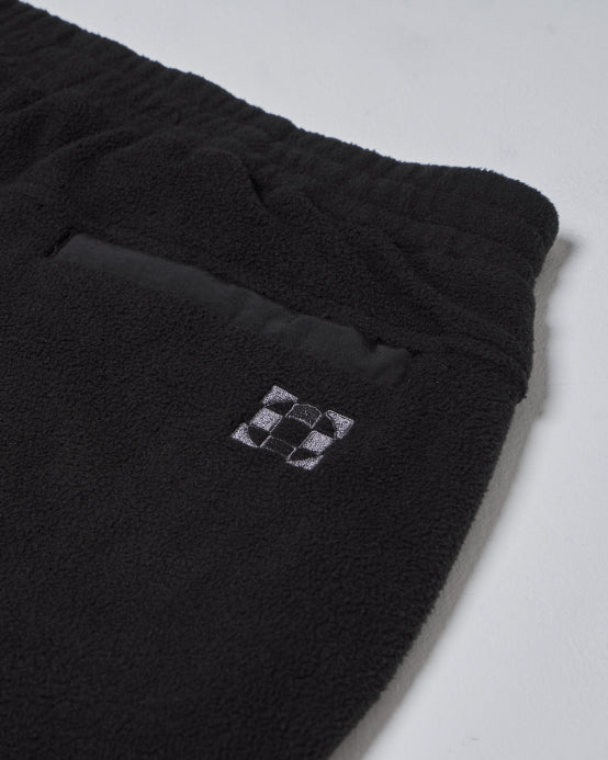 Blocked Fleece Trouser Black