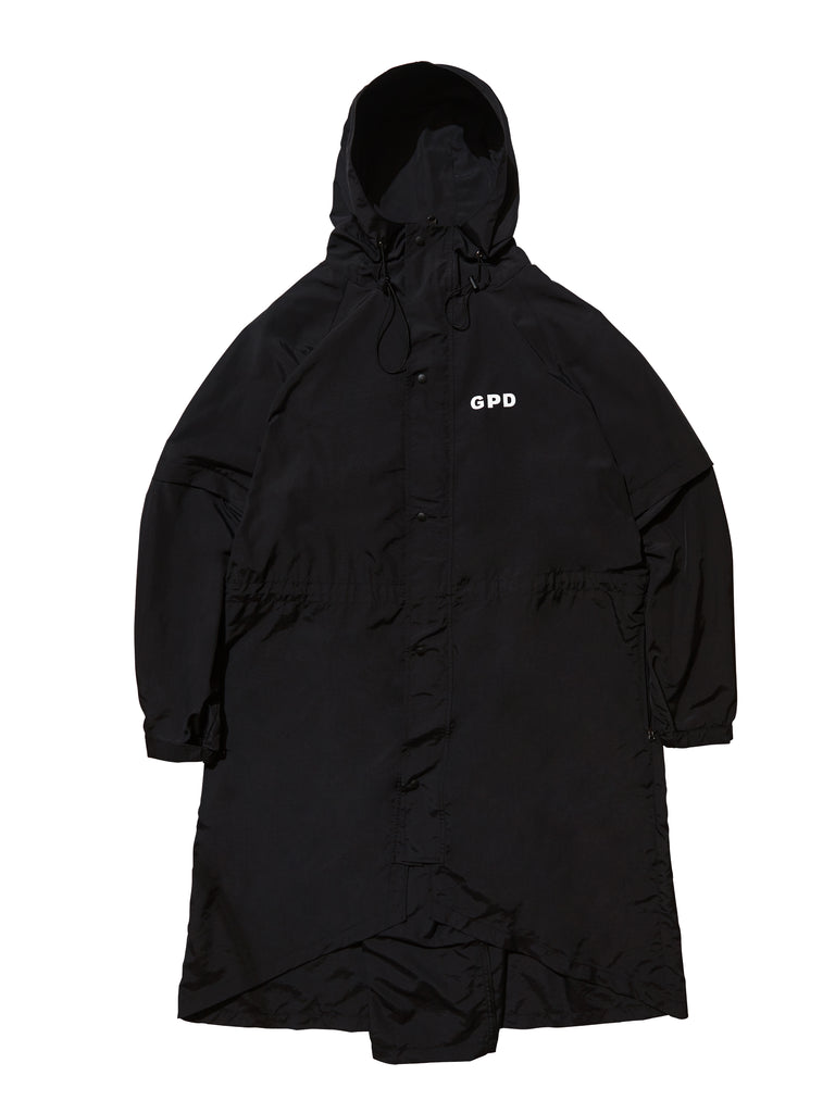 GPD 0010A ZIPPER RAINCOAT BLACK (WATER REPELLENT)