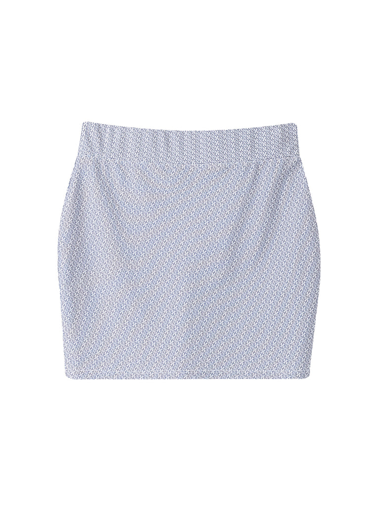 Logo Mini Skirt Grey