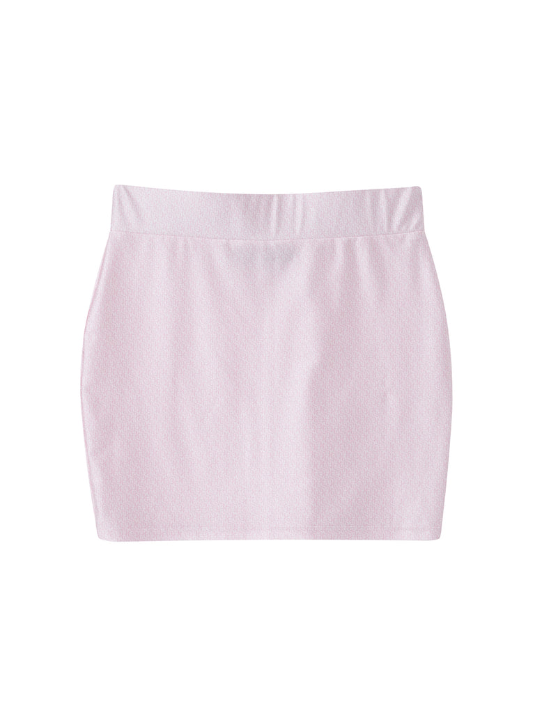 Logo Mini Skirt Pink