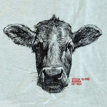 Load image into Gallery viewer, Cow Head T-Shirt - Heather Dusty Blue