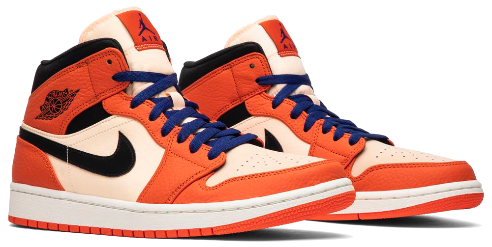 Jordan 1 Mid Team Orange Black