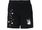 BAPE Sakura Sweat Shorts Black