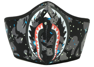 BAPE Space Camo Shark Mask Black