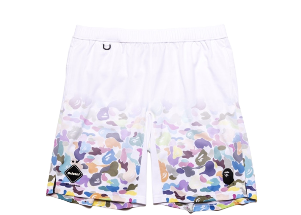 BAPE x F.C.R.B. Game Shorts White