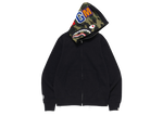 BAPE x Pusha T Shark Full Zip Hoodie Black