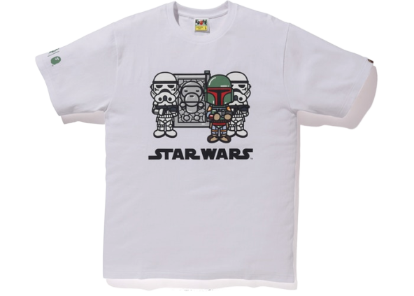 BAPE x Star Wars Baby Milo Carbonite Tee White