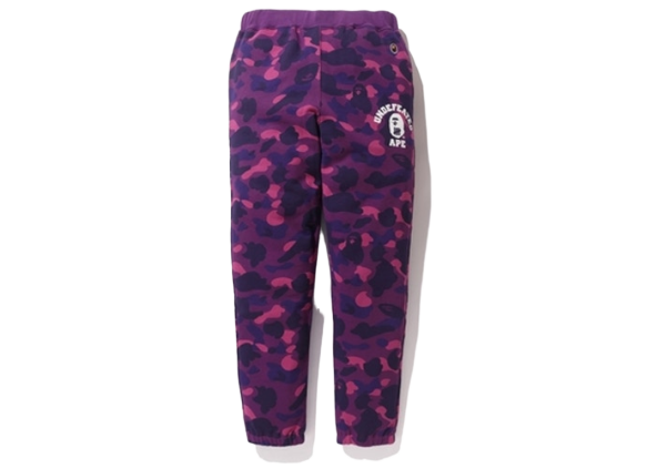 BAPE X Undefeated Color Camo Sweat Pants Purple