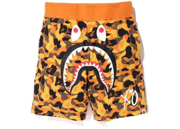 BAPE x XO Shark Sweat Shorts Orange
