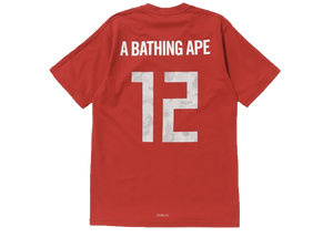 Bape x adidas World Cup 2018 Winning Collection Football Top Red - Baza Bazaar