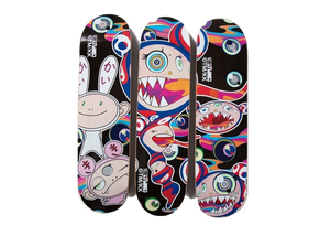 ComplexCon x Takashi Murakami Mr Dob Kai Kai Kiki (Set of 3) Skateboard Deck Multi