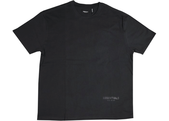 FEAR OF GOD ESSENTIALS 3M Logo Boxy T-shirt Black