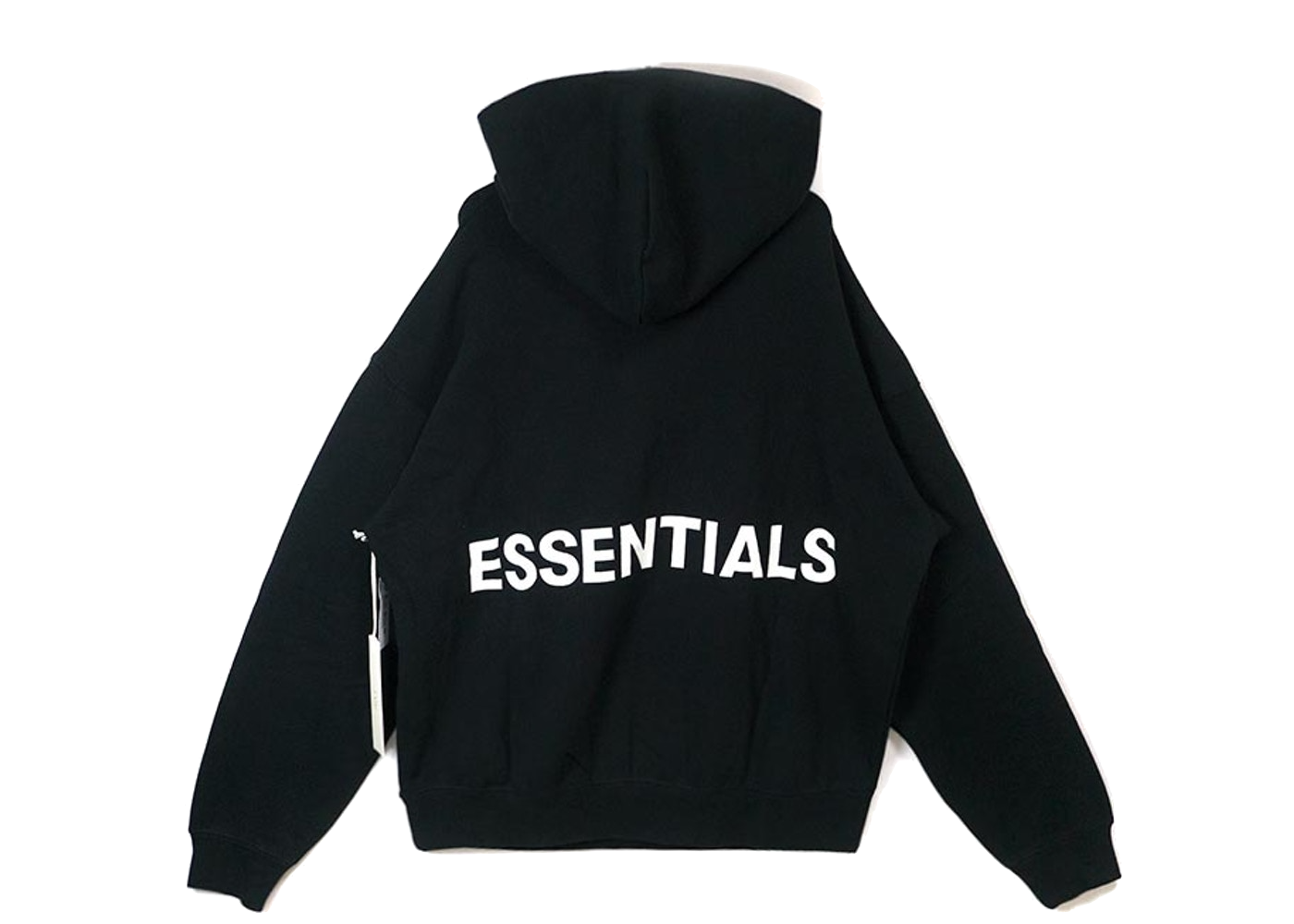 Fear of God Essentials Graphic Pullover Hoodie Black - Baza Bazaar