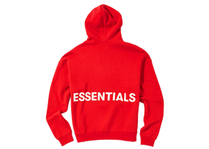 Fear of God Essentials Graphic Pullover Hoodie Red - Baza Bazaar