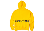 Fear of God Essentials Graphic Pullover Hoodie Yellow - Baza Bazaar