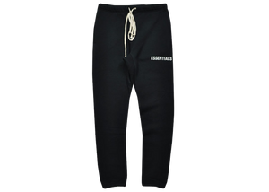Fear of God Essentials Graphic Sweatpants Black - Baza Bazaar