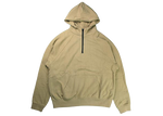 Fear of God FOG Essentials Half Zip Pullover Hoodie Khaki - Baza Bazaar