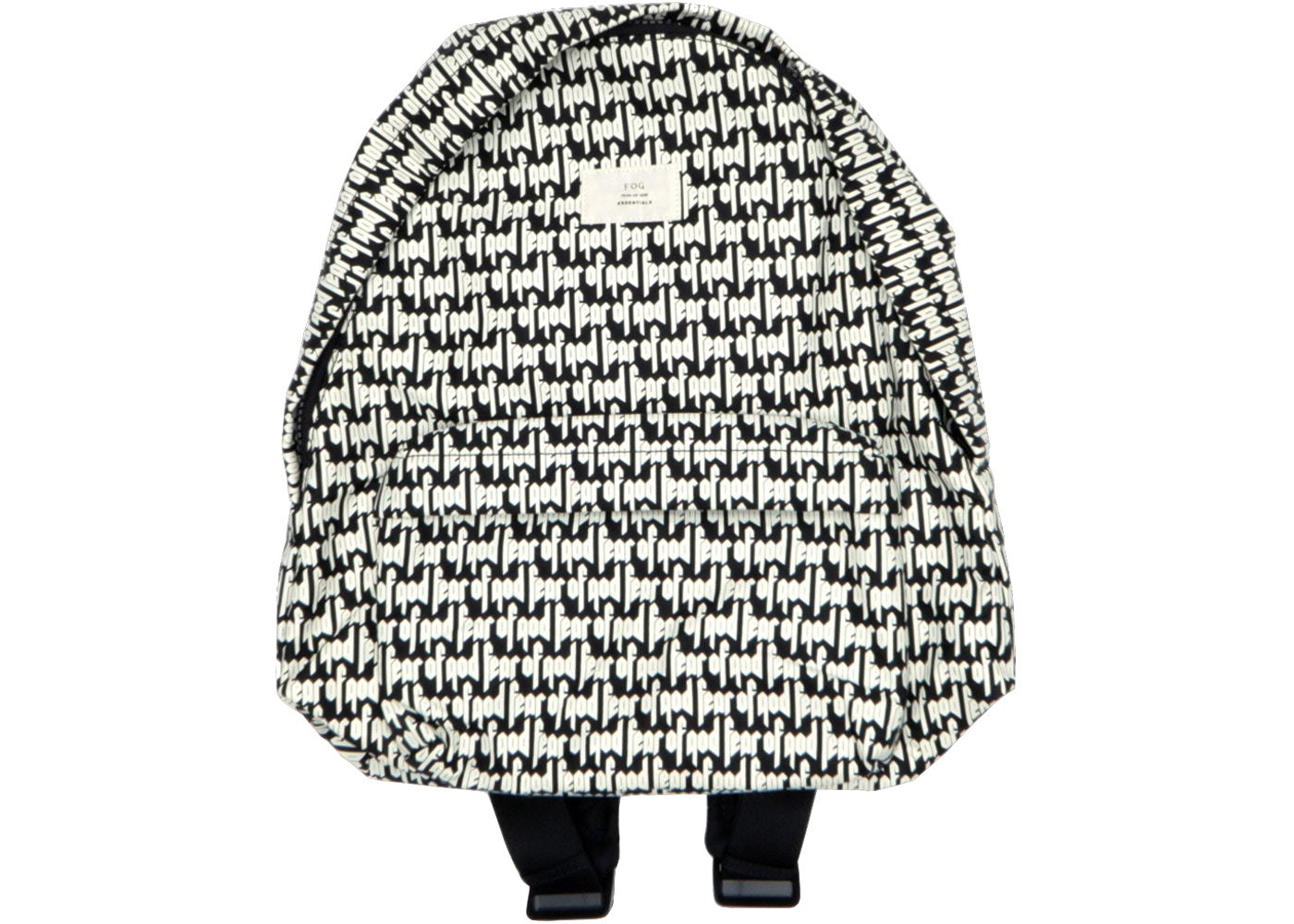 Fear of God FOG Essentials Printed Backpack Black/White - Baza Bazaar