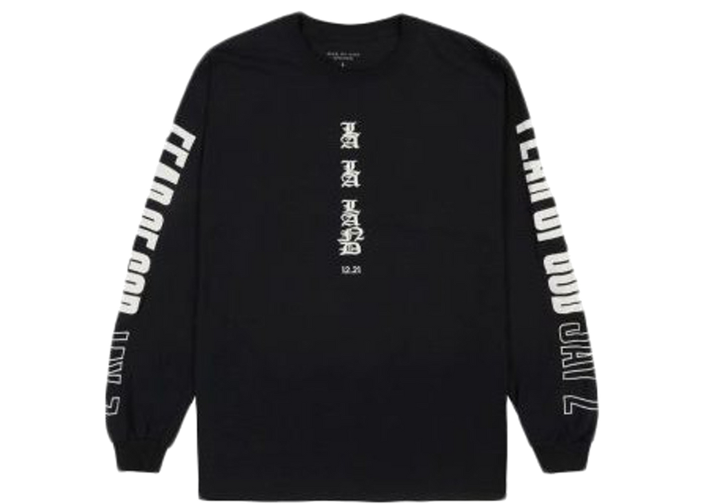 Fear of God Jay-Z Longsleeve T-shirt Black - Baza Bazaar