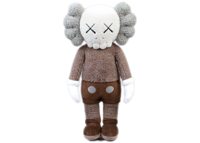 "KAWS HOLIDAY Hong Kong Limited 20"" Plush Brown"