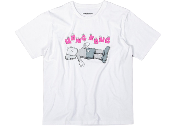 KAWS HOLIDAY Hong Kong Tee White