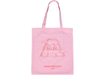 KAWS HOLIDAY JAPAN Tote Bag Pink
