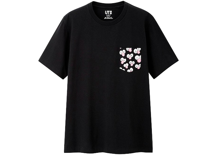 KAWS x Uniqlo BFF Pocket Tee (US Sizing) Black