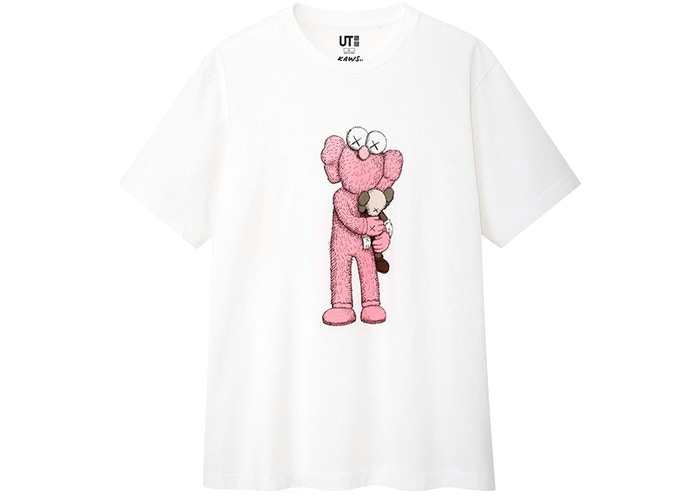 KAWS x Uniqlo Pink BFF Tee (US Sizing) White