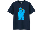 KAWS x Uniqlo x Sesame Street Cookie Monster Tee Navy