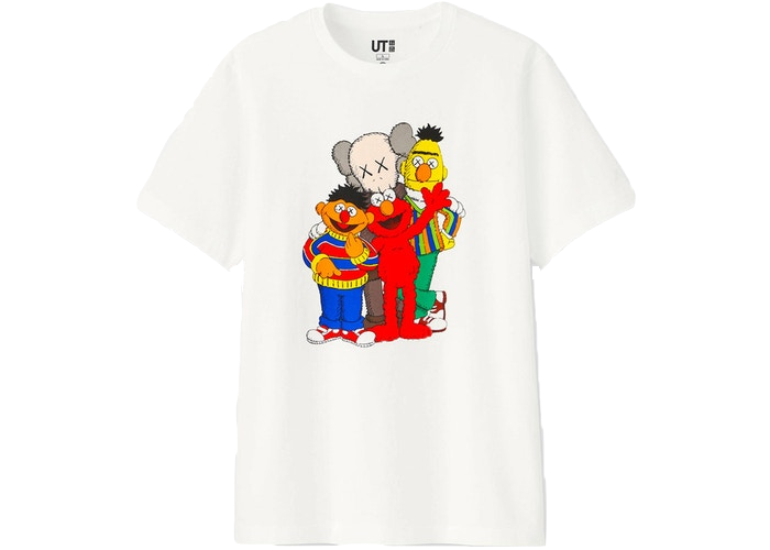 KAWS x Uniqlo x Sesame Street Group Tee White