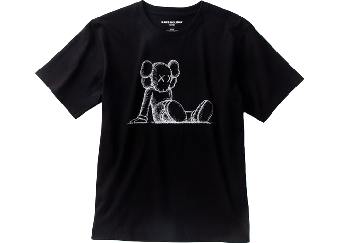 KAWS Holiday Limited Companion T-Shirt Black