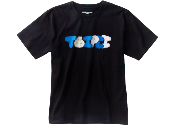KAWS Holiday Limited Taipei T-Shirt Black