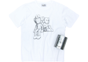 Kaws Seeing/Watching Canned Tee White - Baza Bazaar