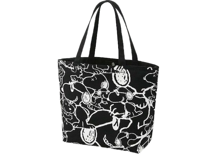 KAWS x Uniqlo x Peanuts Snoopy Pattern Tote Bag Black