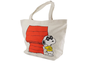 KAWS x Uniqlo x Peanuts Snoopy Dog House Tote Bag Beige