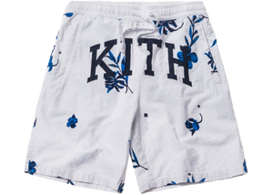 Kith Seersucker Track Shorts Grey