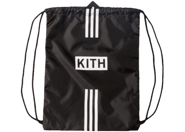Kith adidas Soccer Drawstring Bag Black