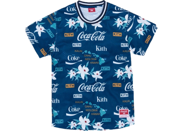 Kith x Coca-Cola x Mitchell & Ness BP Hawaii Jersey Blue