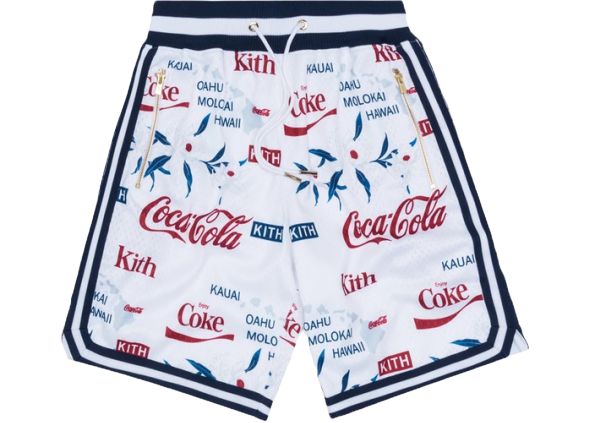 Kith x Coca-Cola x Mitchell & Ness Hawaii Shorts White