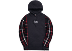 Kith x Disney Patchwork Wool Plaid Hoodie Black