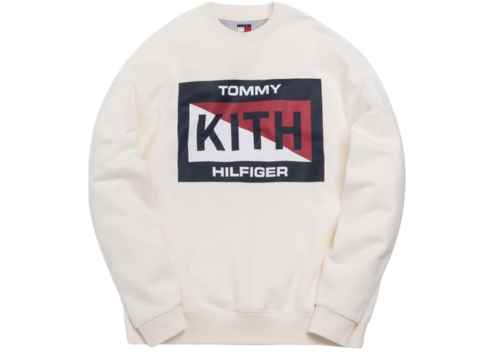 Kith x Tommy Hilfiger Slash Logo Crewneck Cream