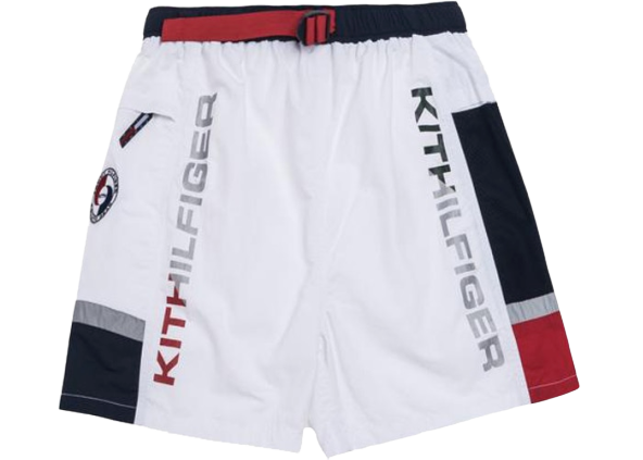 Kith x Tommy Hilfiger Solid Swim Trunk White