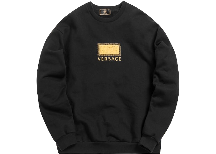 Kith x Versace Greek Key Crewneck Black